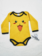 Body Manga Longa Personagem Pikachu