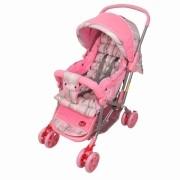 Carrinho de Bebê Berço e Passeio Pop Rosa Dardara
