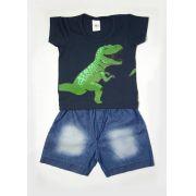 Conjunto Curto Infantil T-Rex