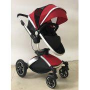 Carrinho de Bebê Giro 360º C/ Bebê Conforto - Vinho