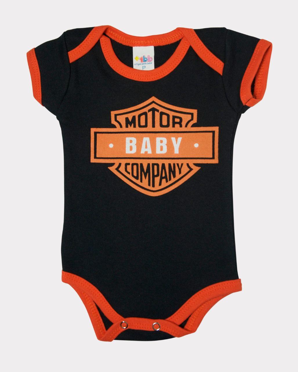 Body Manga Curta Motor Baby