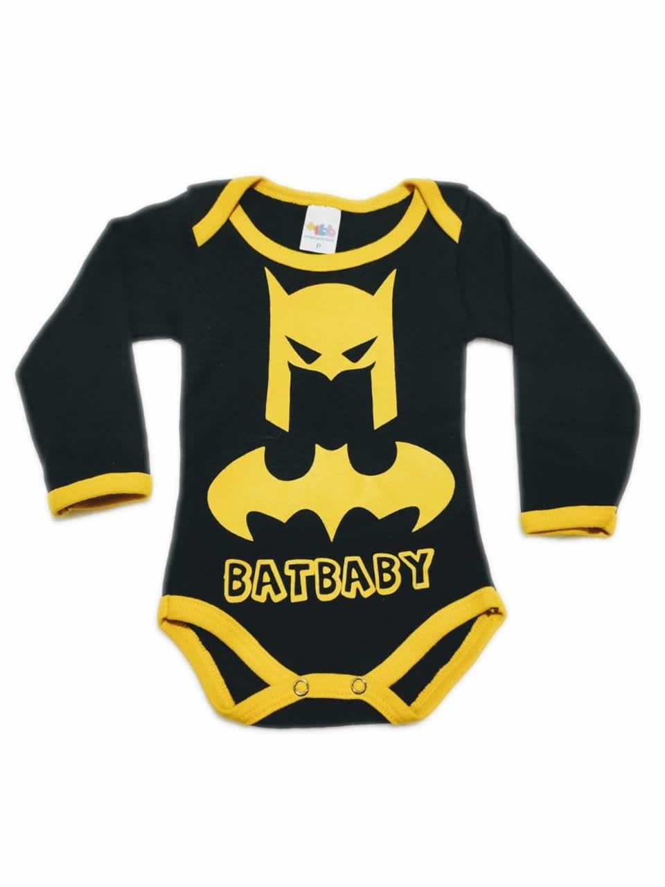 Body Manga Longa Personagem Batman