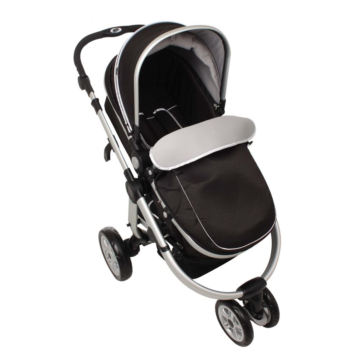 Carrinho de Bebê Absoluto com Bebê Conforto Preto Dardara