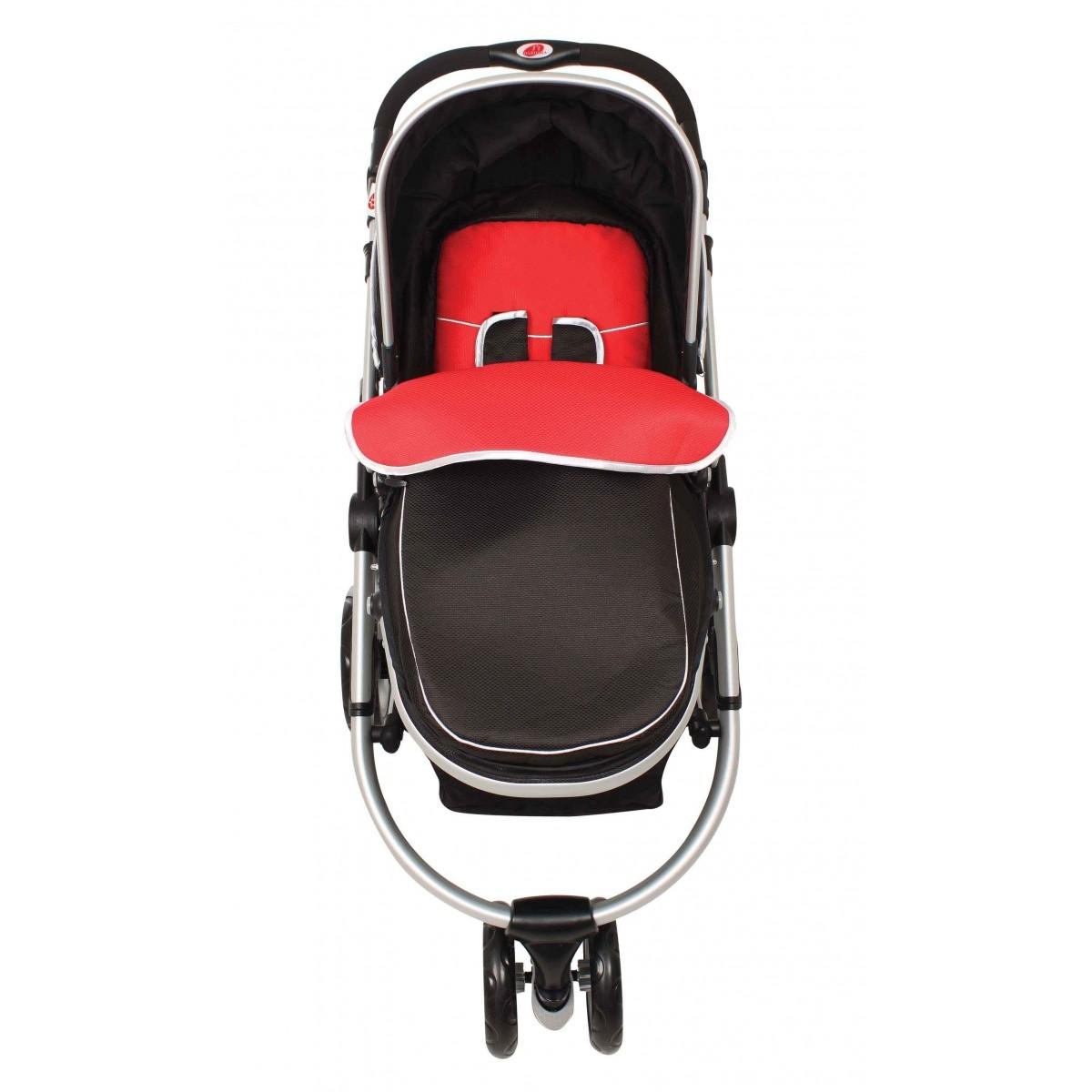 Carrinho de Bebê Absoluto Vermelho Dardara