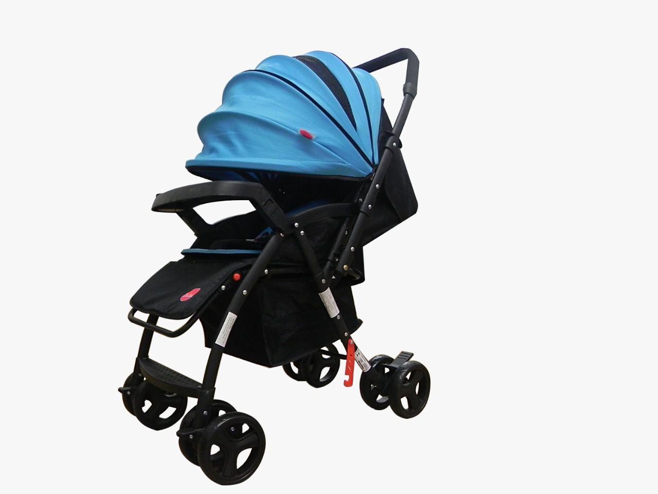 Carrinho de Bebê Free Azul Dardara