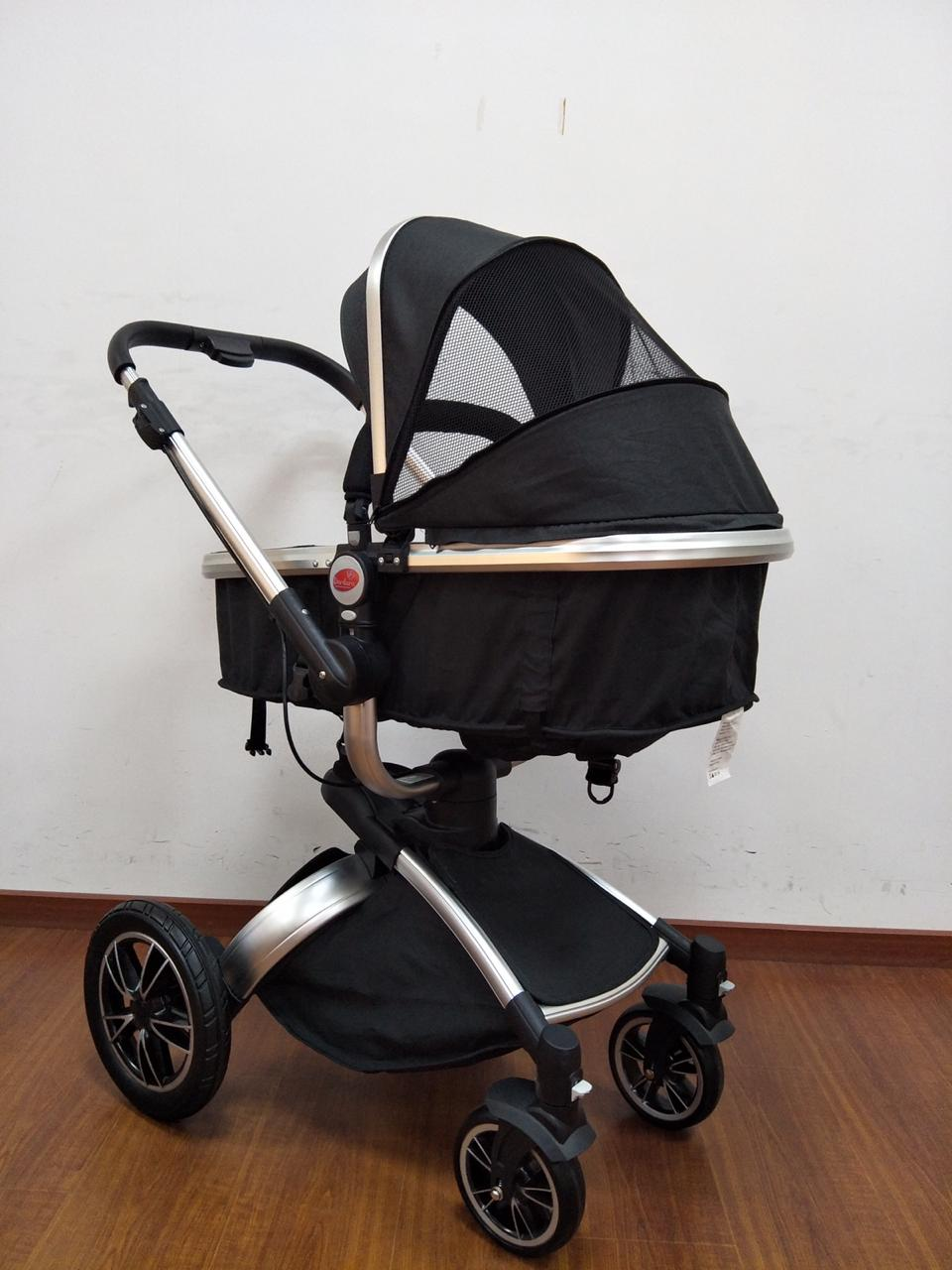 Carrinho de Bebê Giro 360º - Preto