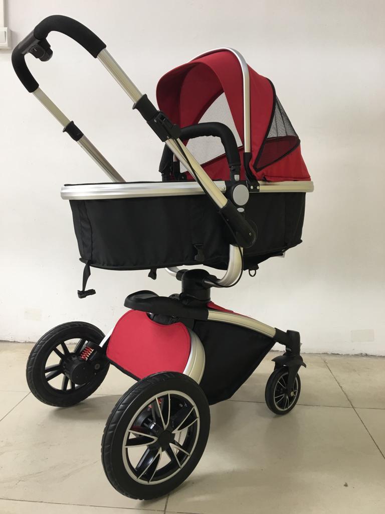 Carrinho de Bebê Giro 360º - Vinho