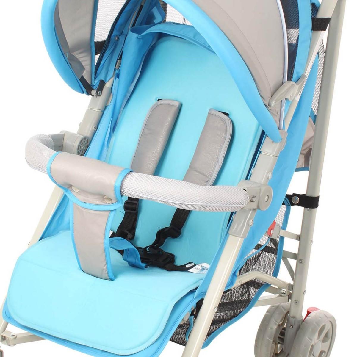 Carrinho De Bebê para Passeio New Single Azul Dardara