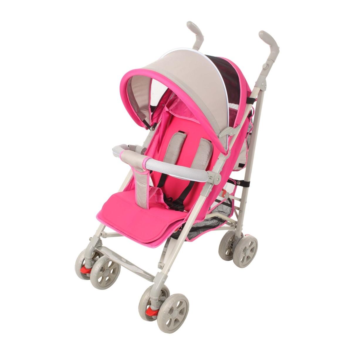 Carrinho De Bebê para Passeio New Single Rosa Dardara