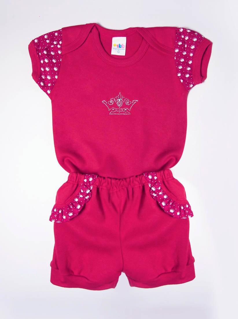 Conjunto Curto de Bebê Princesinha