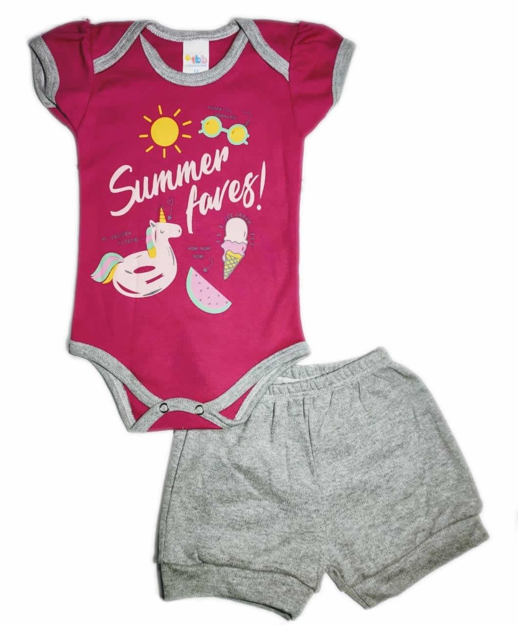 Conjunto Curto de Bebê Summer