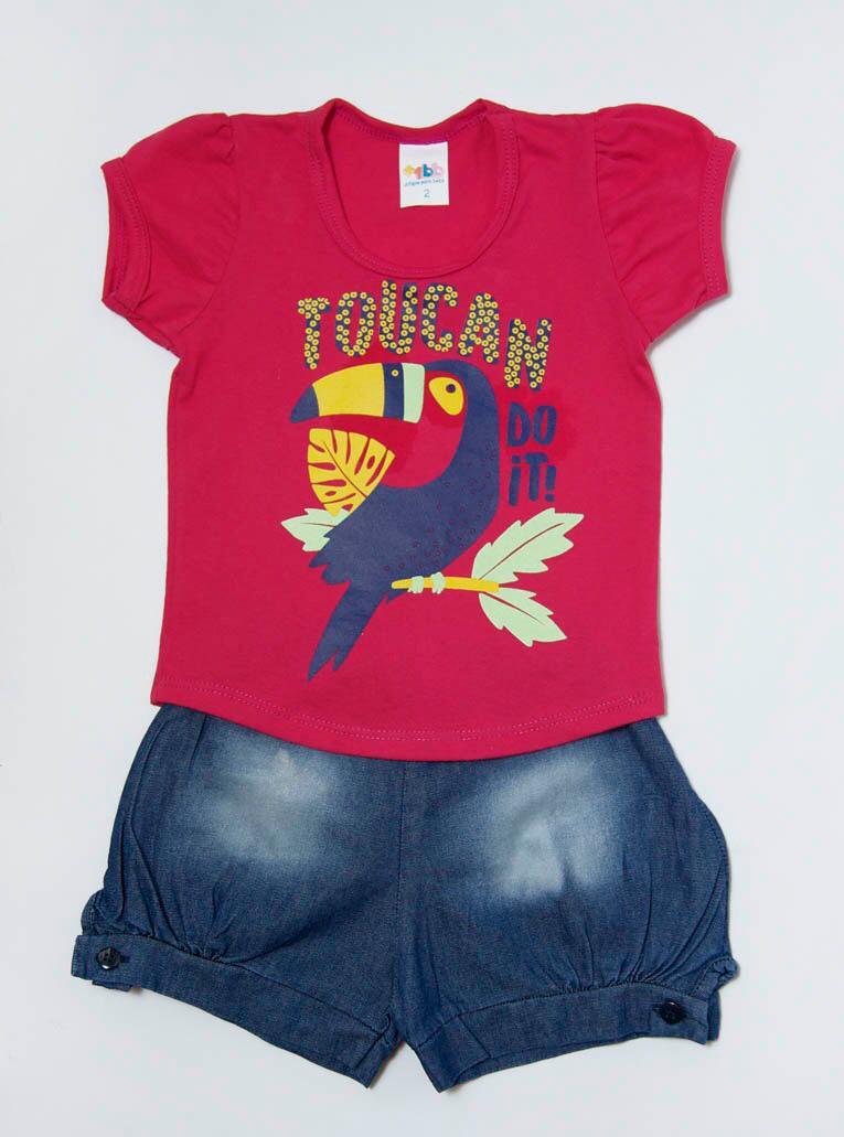 Conjunto Curto Infantil Tucano