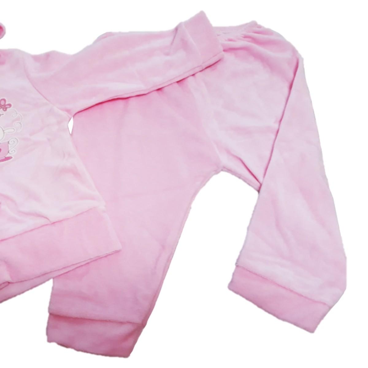Conjunto Infantil de Plush Rosa Bebê Dardara