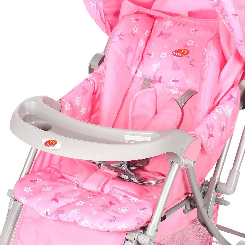 Carrinho de Bebê Sonho Rosa Dardara