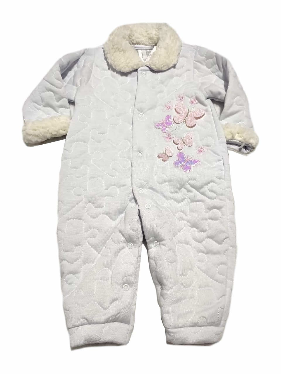 Macacão Acolchoado Butterflies - And's Baby