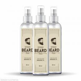 Minoxidil para Crescer Barba   Combo 03 Unidades