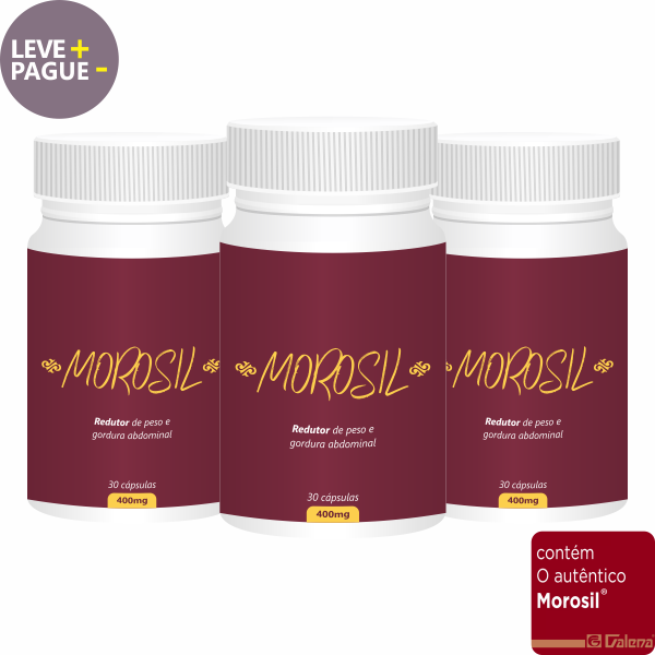 Combo Morosil 400mg | 30 cápsulas | 3 unidades