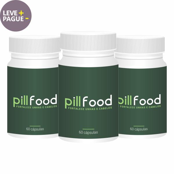 Pill Food | 60 cápsulas | Combo 03 unidades  - Vitalle Farmácia de Manipulação