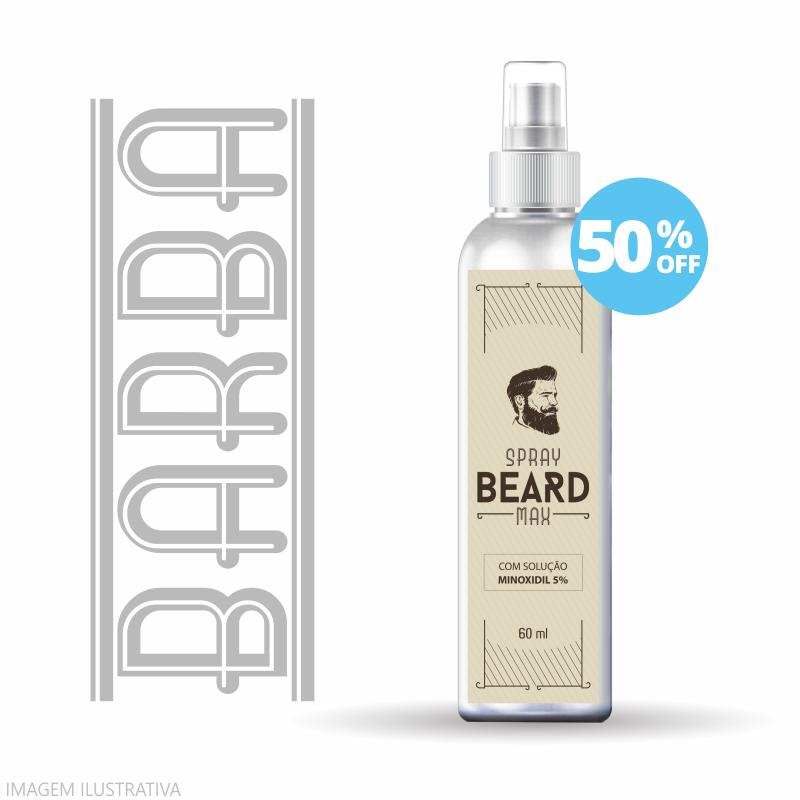 Solução de Minoxidil 5% SPRAY   Barba   60ml