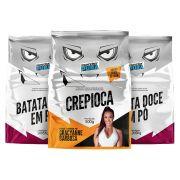 Proteína Pura - Kit 2 Batatas - Doces + 1 Crepioca - (3 un x 500g)