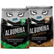 Proteína Pura - Kit Albumina Chocolate com Menta + Albumina Cappuccino - (2 un x 500gr)