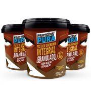Proteína Pura - Combo Pasta de Amendoim Granulada- 3 unidades