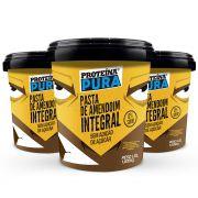 Proteína Pura - Combo Pasta de Amendoim Integral - 3 unidades