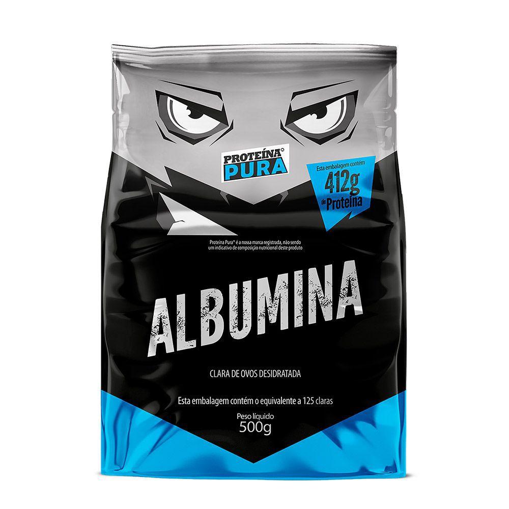 Albumina - Natural 500g - Proteína Pura