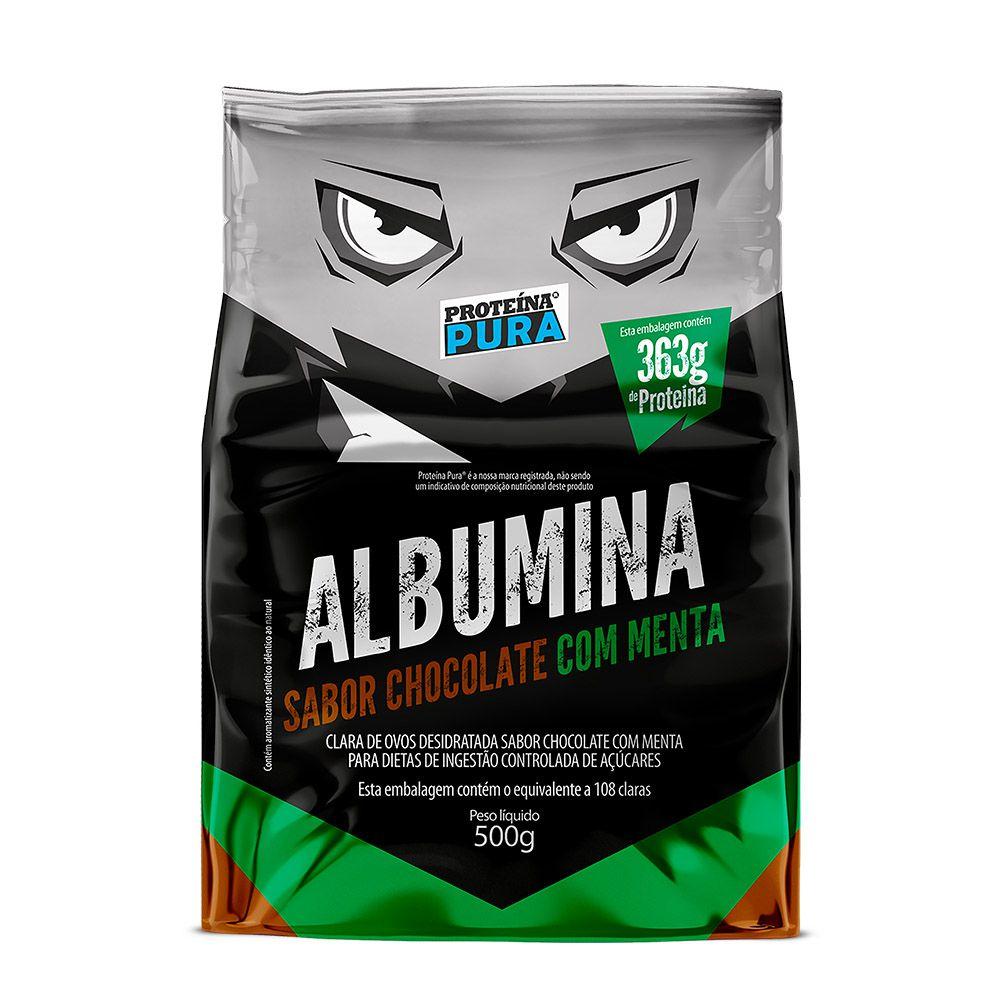 Albumina - Chocolate com Menta 500g - Proteína Pura
