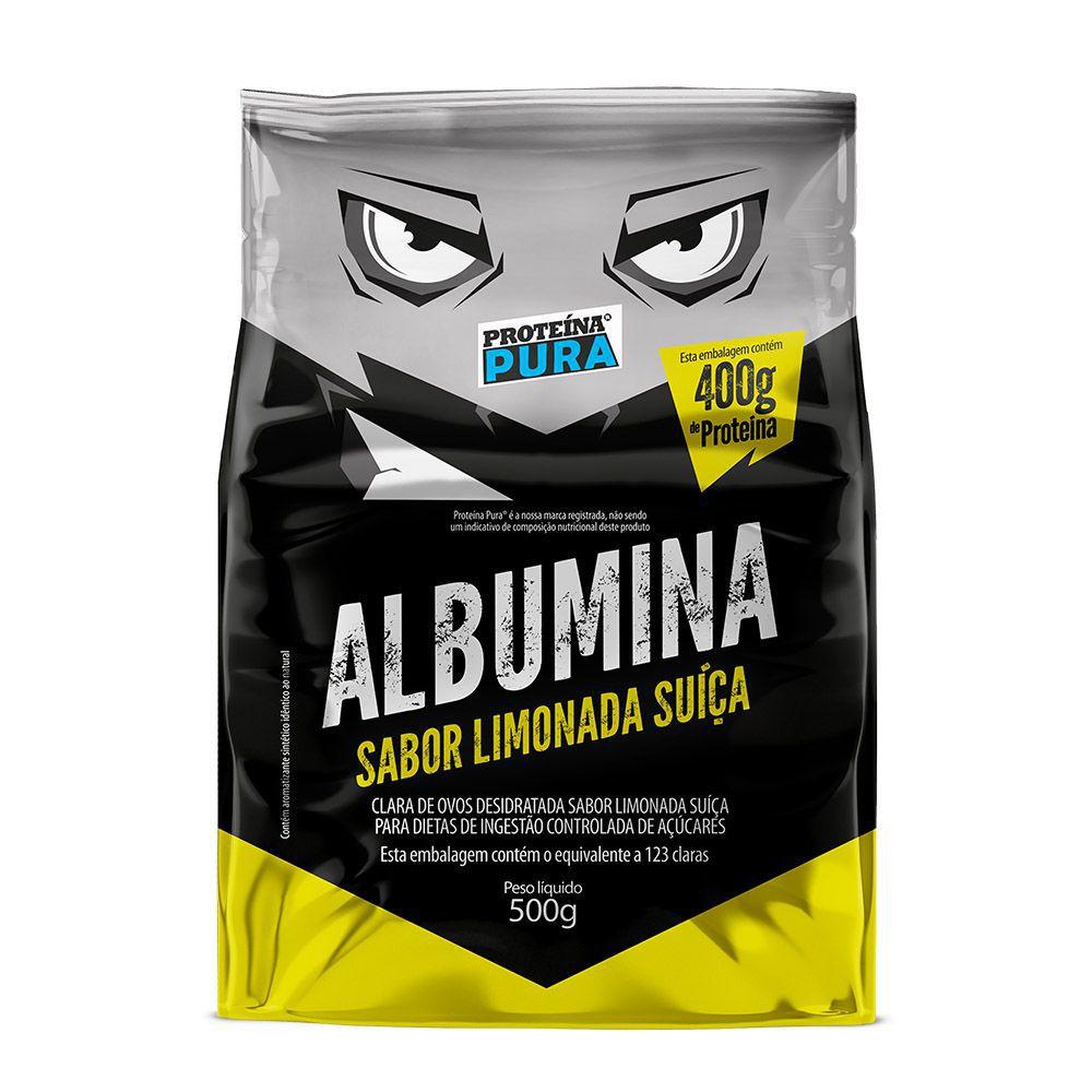 Albumina - Limonada Suíça 500g - Proteína Pura