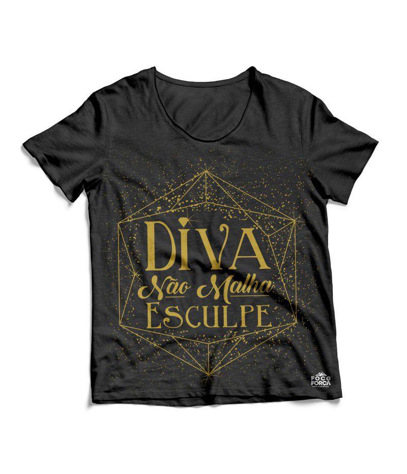 Camiseta - Diva - Preta