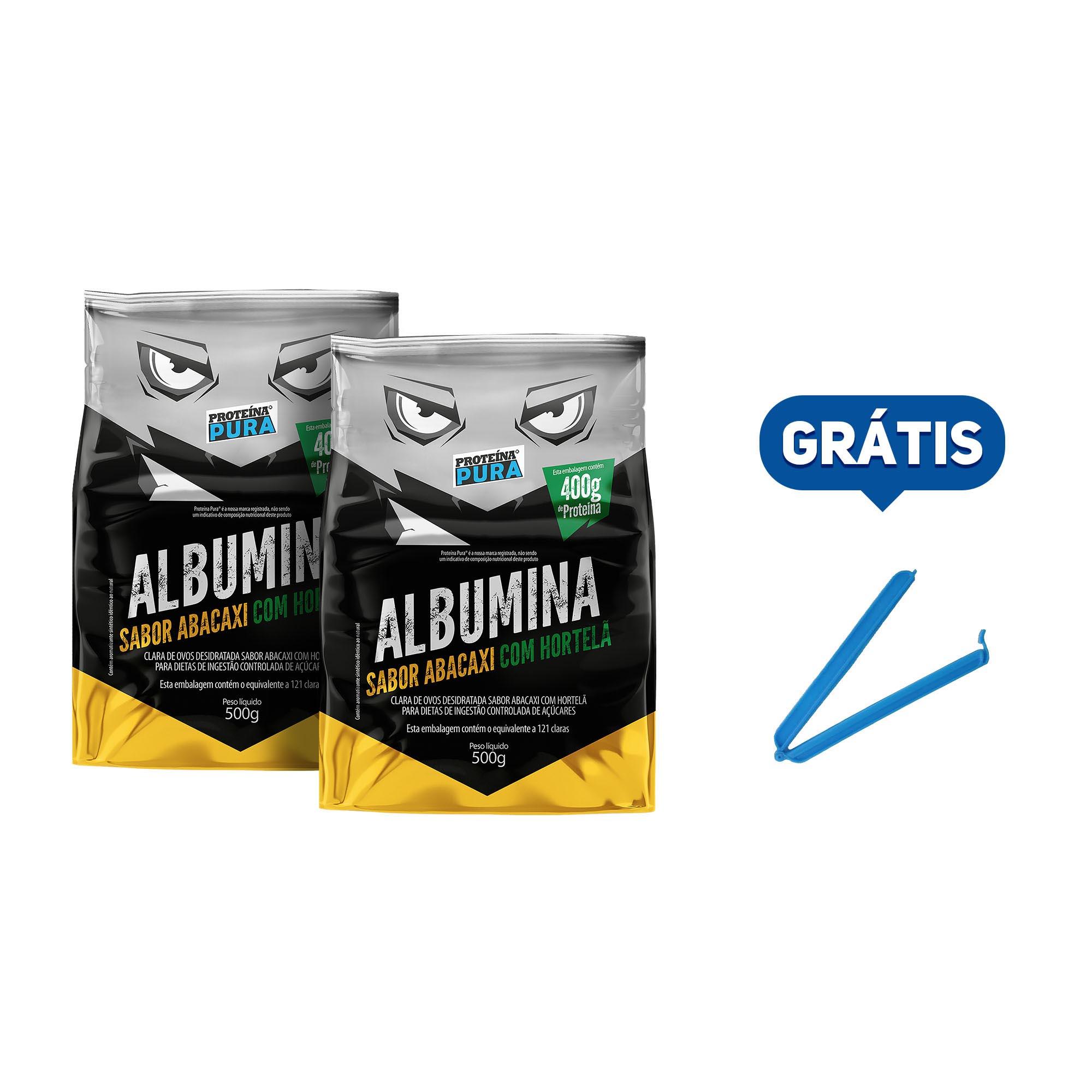 Kit Albumina Abacaxi com Hortelã - (2 un x 500g) - Proteína Pura