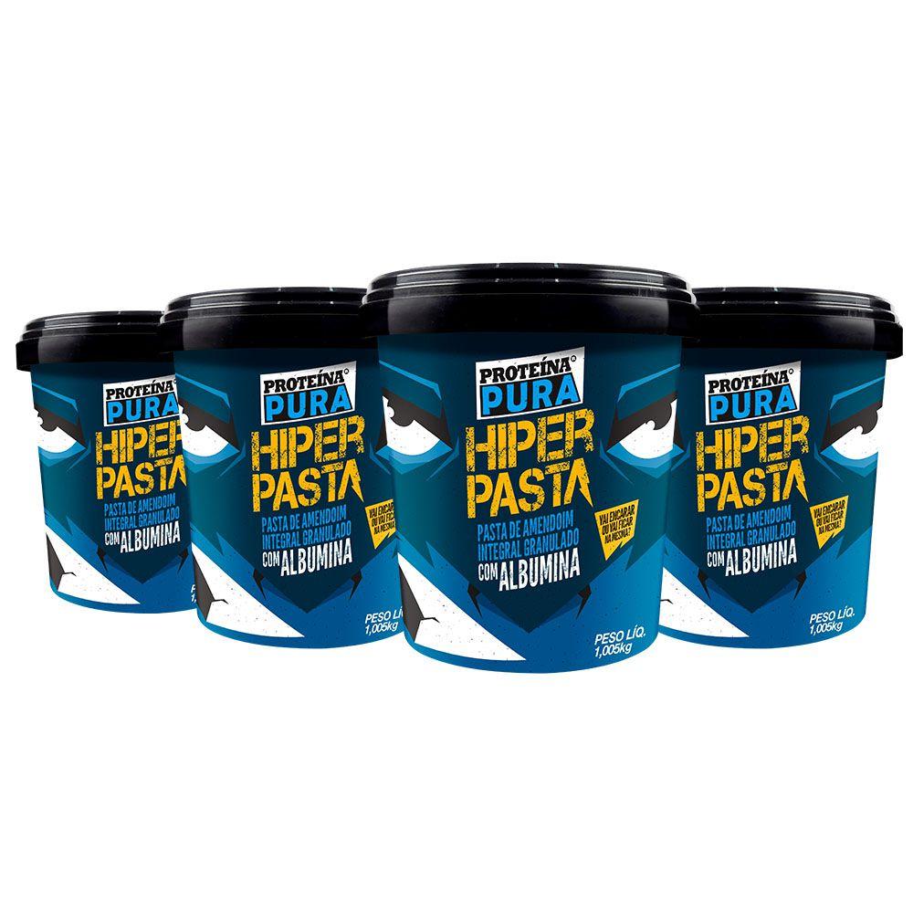 Kit Hiper Pasta de Amendoim com 40% Albumina - (4 un x 1Kg) - Proteína Pura