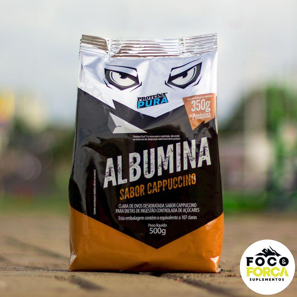 Proteína Pura - Albumina - 500g - Sabor Cappuccino