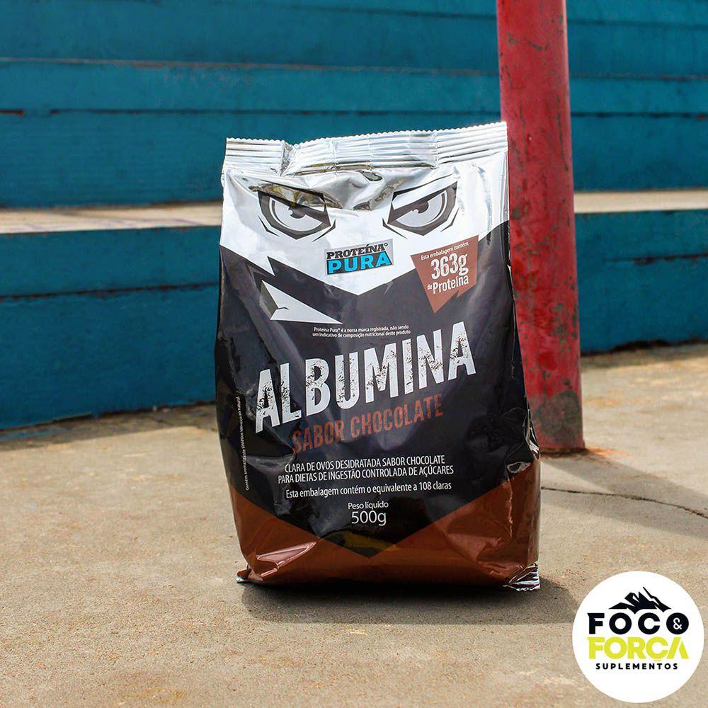 Proteína Pura - Albumina - 500g - Sabor Chocolate