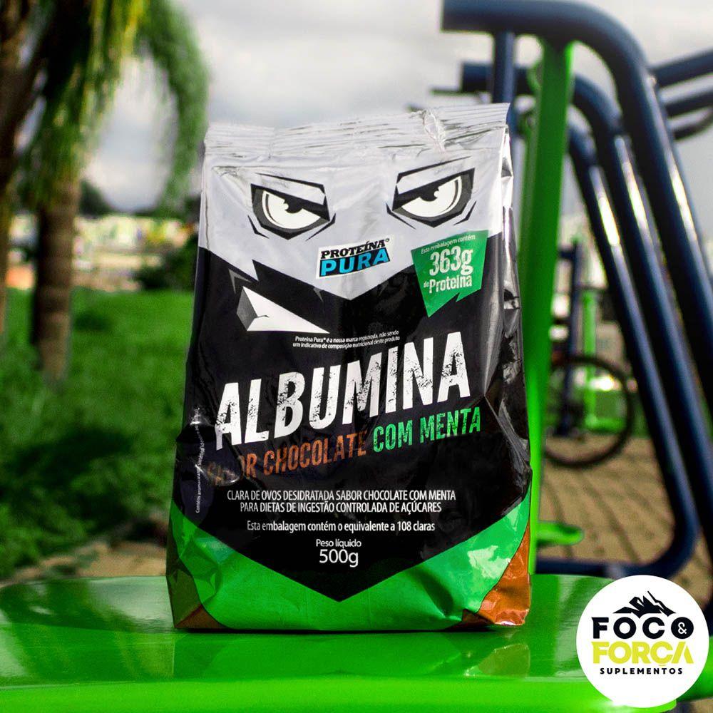 Proteína Pura - Albumina - 500g - Sabor Chocolate com Menta