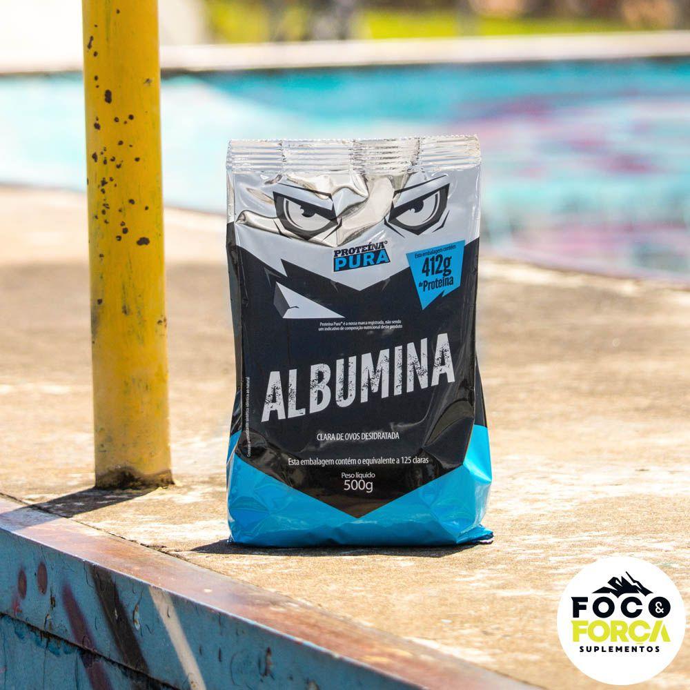 Proteína Pura - Albumina - 500g - Sem Sabor
