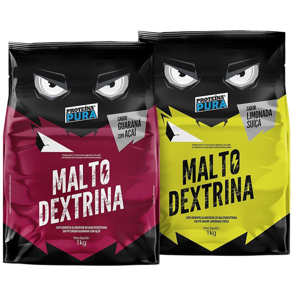 Kit Maltodextrina Guaraná com Açaí + Maltodextrina Limonada Suíça - 2 unidades - Proteína Pura
