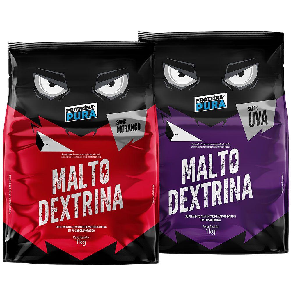 Kit Maltodextrina Morango + Maltodextrina Uva - 2 unidades - Proteína Pura