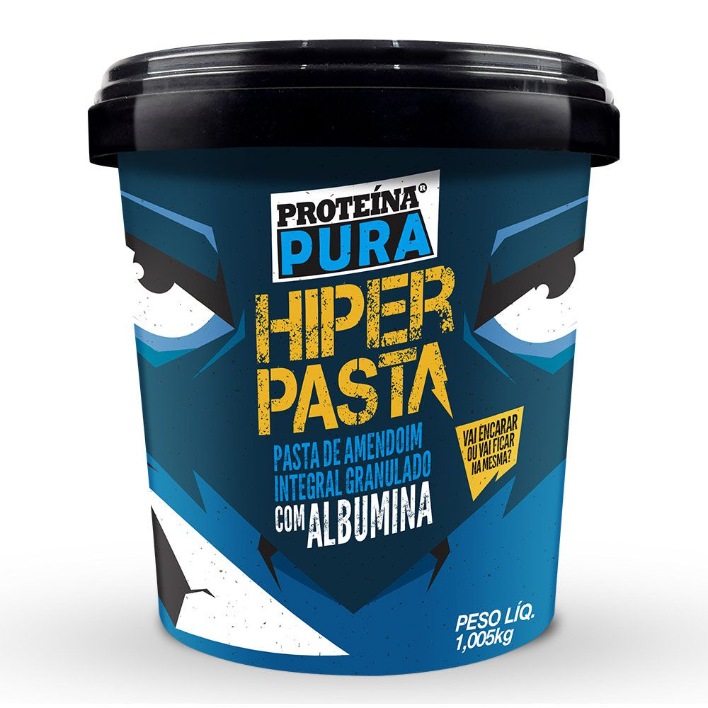 Proteína Pura - Hiper Pasta de Amendoim com Albumina  1kg