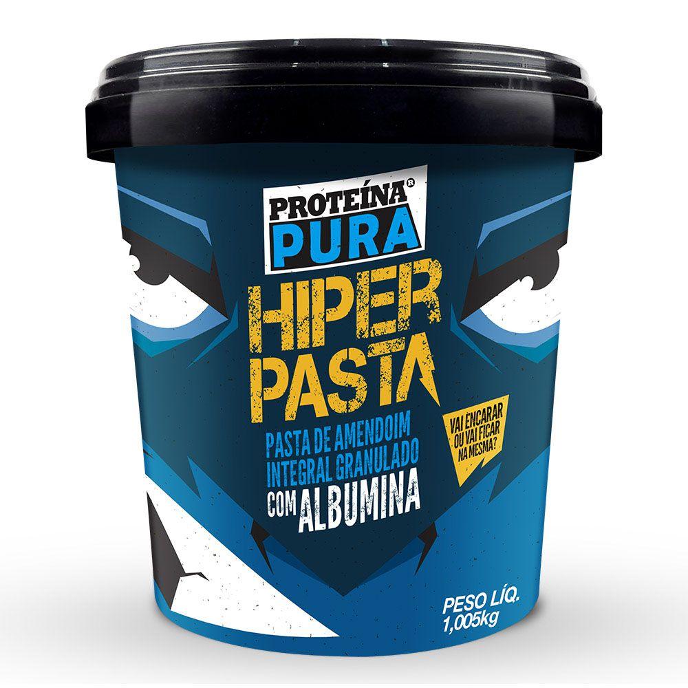 Hiper Pasta de Amendoim com Albumina - 1kg - Proteína Pura