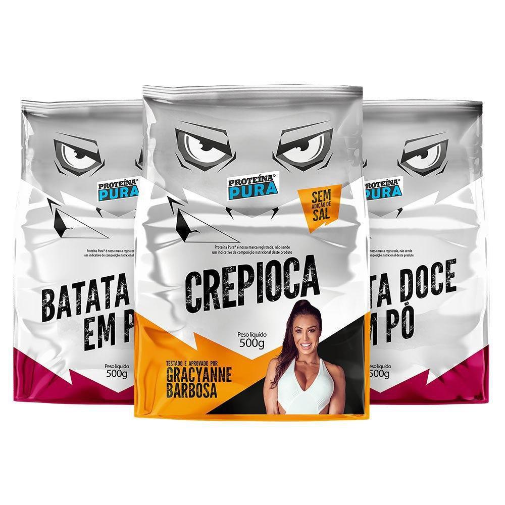 Kit 2 Batatas Doces + 1 Crepioca - (3 un x 500g) - Proteína Pura