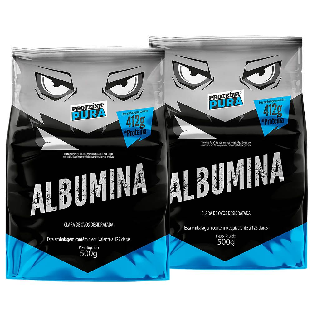 Proteína Pura - Kit Albumina Natural - (2 un x 500gr)