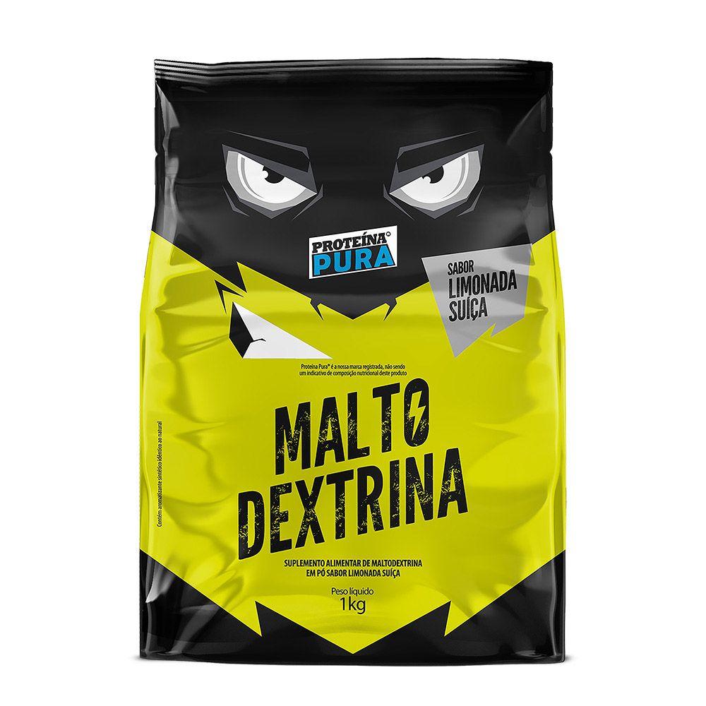 Maltodextrina - 1kg - Sabor Limonada Suiça - Proteína Pura