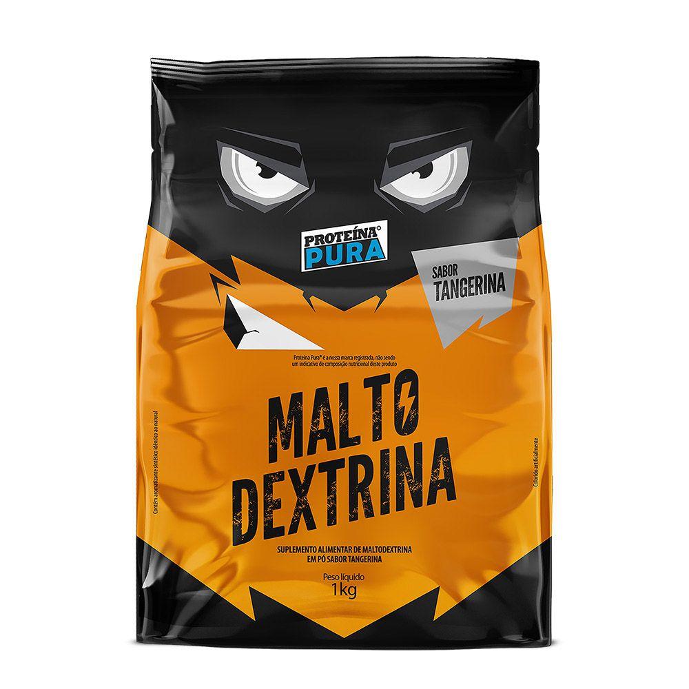 Maltodextrina - 1kg - Sabor Tangerina - Proteína Pura