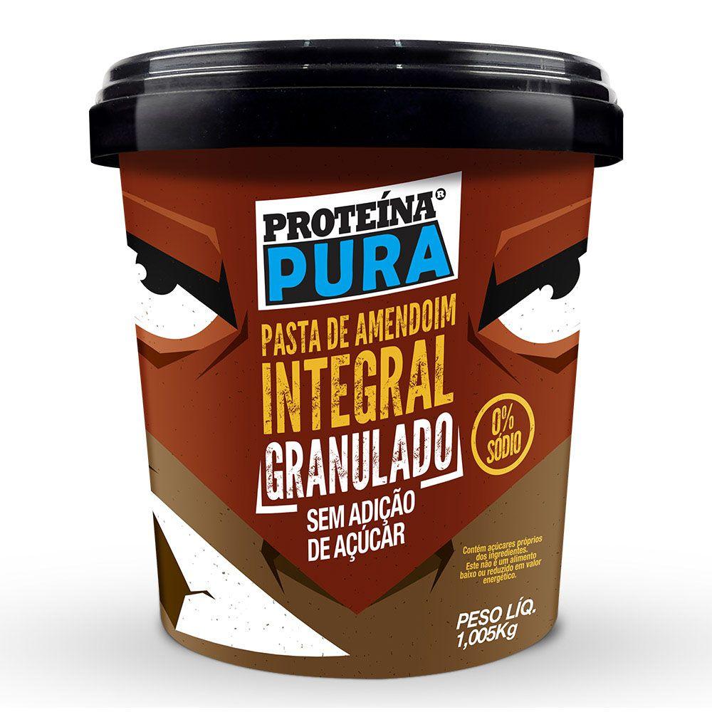 Pasta de Amendoim Granulado - 1Kg - Proteína Pura