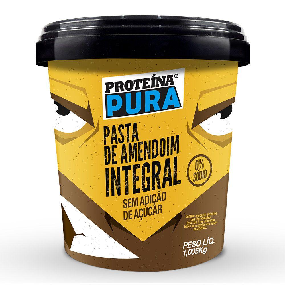 Pasta de Amendoim Integral - 1Kg - Proteína Pura