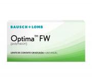 Lentes de Contato Optima FW Para Miopia Hipermetropia Descarte Anual Bausch Lomb