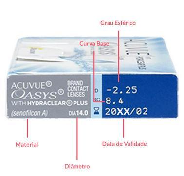 aa6e58ee06 ... Lentes de Contato Acuvue Advance com Hydraclear Para Miopia/ Hipermetropia - SoftLens