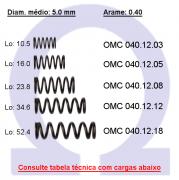 Mola compressão OMC 04012XX (Embalagem 10 peças)